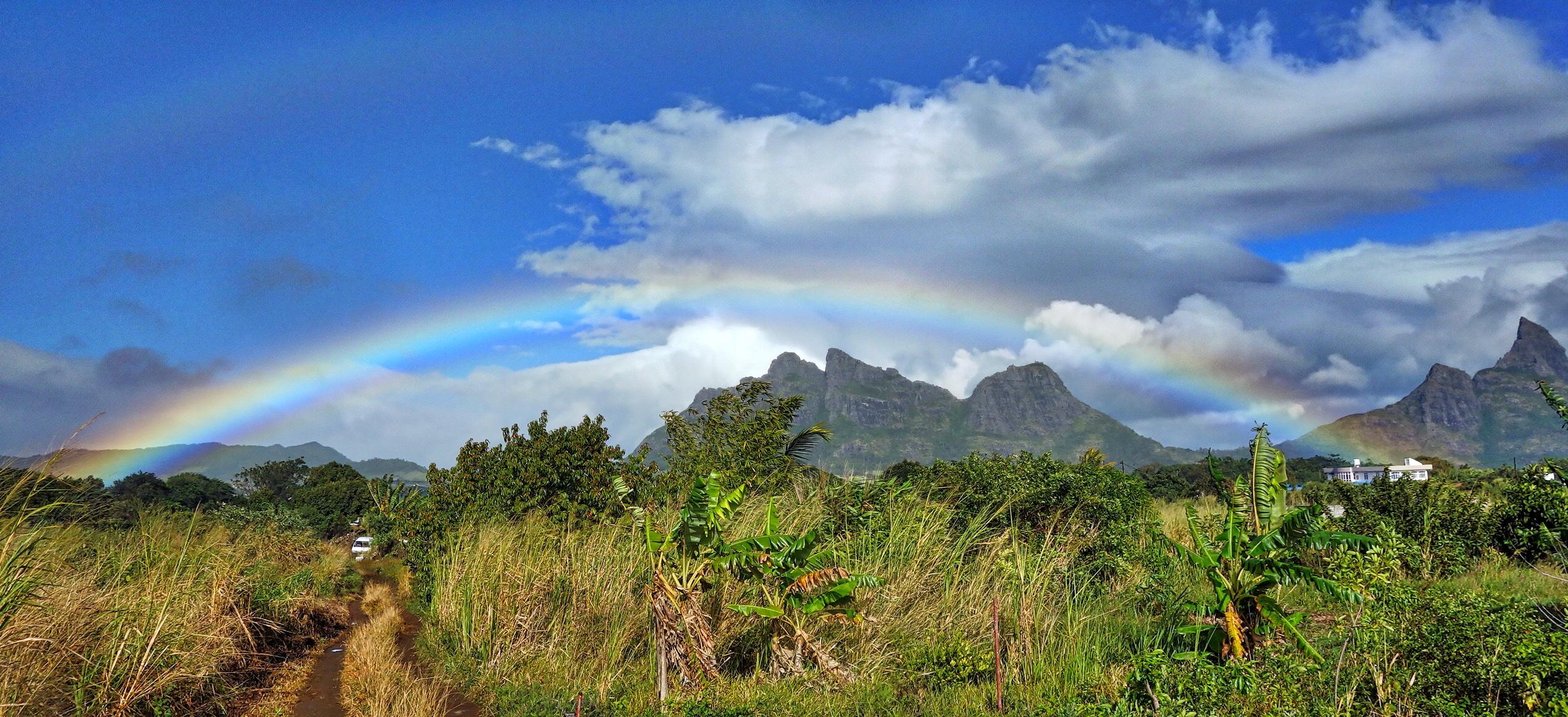 Rainbow in Mauritius--15 June 2016